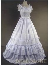 White Sleeveless Sweet Long Victorian Dress Victorian Dress Up Game