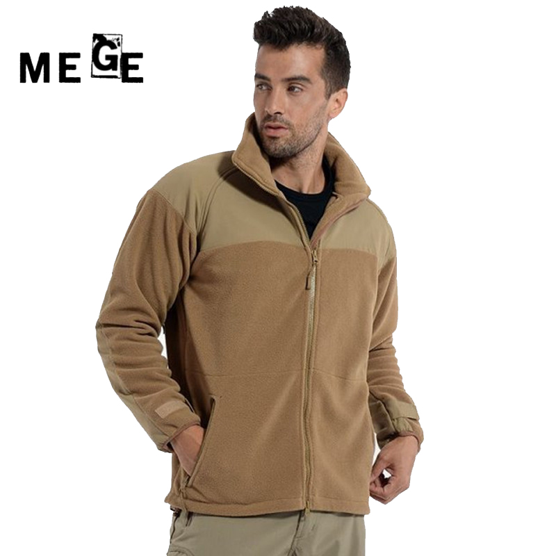 MEGE Men Jackets Autumn Winter Tactical Fleece Thermal Coat, Men Hunting Jacket, Military Army Training Sportswear newly hot sale winter military men fleece tactical softshell jacket polartec thermal polar hooded jacket and coat men clot