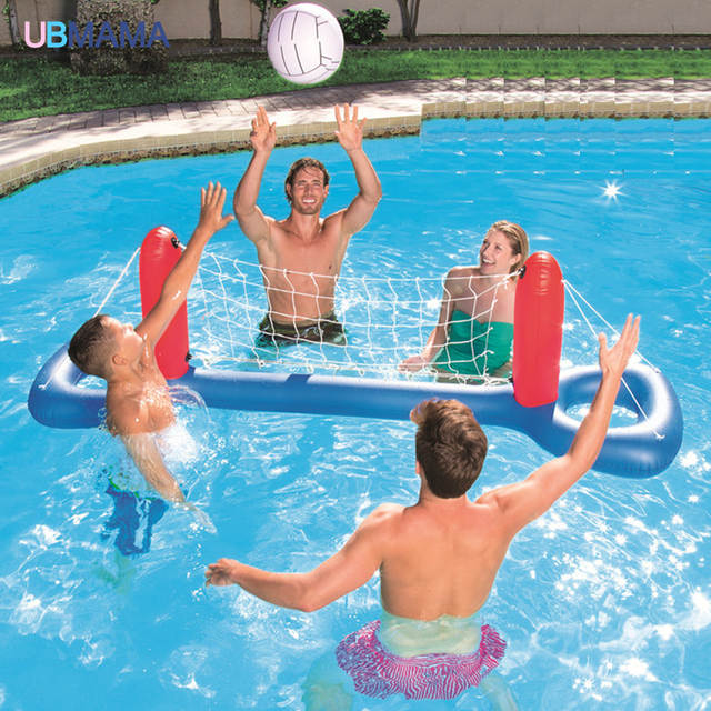 US $15.57 35% OFF|High quality plastic material water basketball volleyball  hand goal adult children inflatable swimming pool accessories-in ...