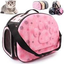 Dobrável filhote de cachorro cão gato transportadora viagem ao ar livre pet saco de transporte para cães pequenos gatos respirável kedi malzemeleri transportin perro