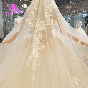 Image 5 - AIJINGYU Artı Boyutu Gelinlikler gelin elbiseleri Satış Türk Boncuklu Çin Fabrika Kıyafeti Web Siteleri Lüks Kristal düğün elbisesi