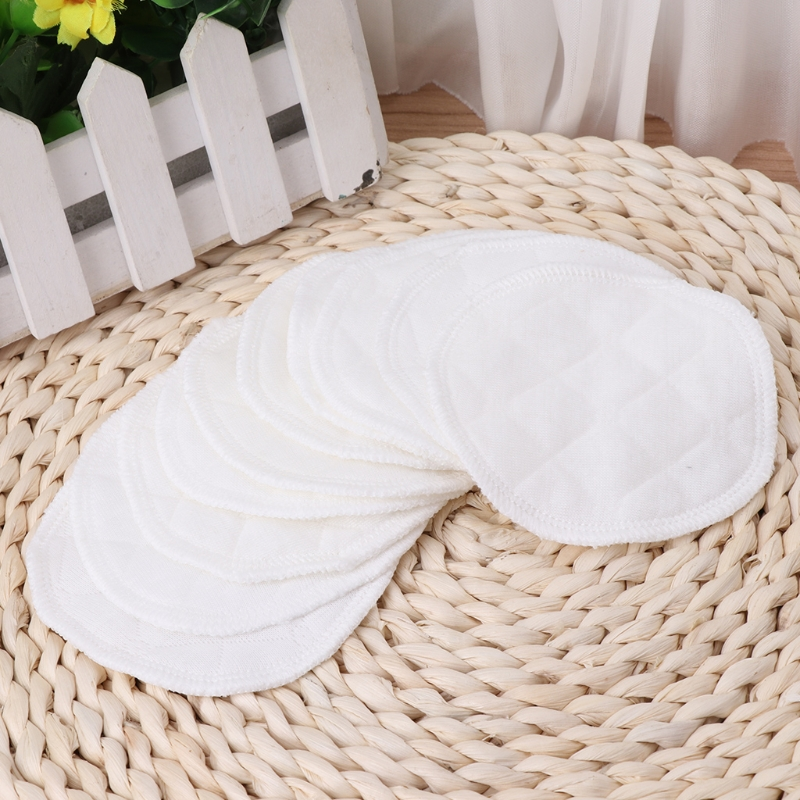 2018 10Pcs/set Reusable Washable Breastfeeding Breast Nursing Pad Spill Proof Pregnant JUN10_17
