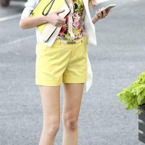 Mejor Boutique mujeres algodón de caramelo Color de pantalones 2016 del verano cortocircuitos ocasionales delgados dulce chicas Shorts recién llegado FF106
