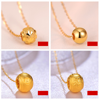 JAZB 24K Pure Gold charm  Real AU 999 Solid Gold beads pendant Beautiful Bead Upscale Trendy Classic  Jewelry Hot Sell New 2020 3