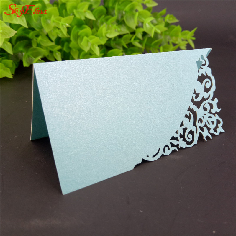 10pcslot hollow out luxury table name place cards name