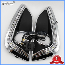 2 PCS LED Light For Hyundai IX35 IX 35 2010 2011 2012 2013 LED DRL Daytime Running Light Waterproof With Wire Of Harness