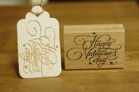 Free Shipping Happy Valentines Day Rubber Wood Stamp For Card Diry Scrapbooking Stamp 7 5cm