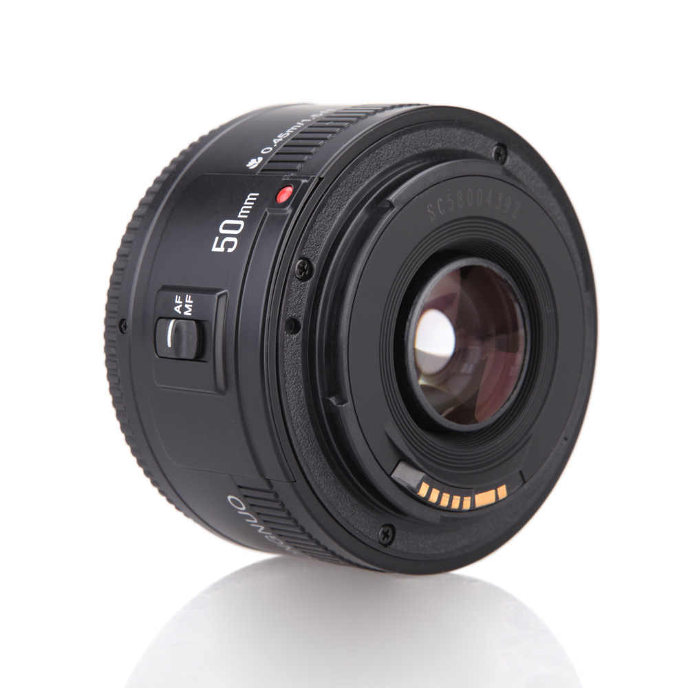 ES magazynie YONGNUO YN EF f/1.8 AF 50mm obiektyw 1:1. 8 standardowy obiektyw główny otwór automatyczne ustawianie ostrości obiektywy do aparatu do aparatu Canon EOS lustrzanki cyfrowe