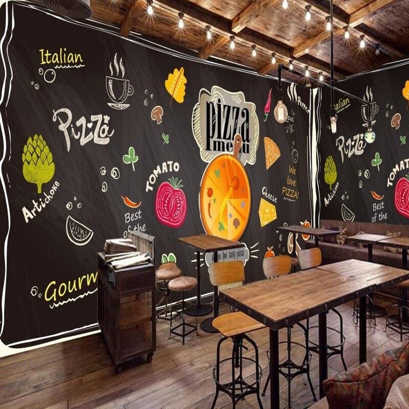 custom 3d mural chalk painted black blackboard cartoon