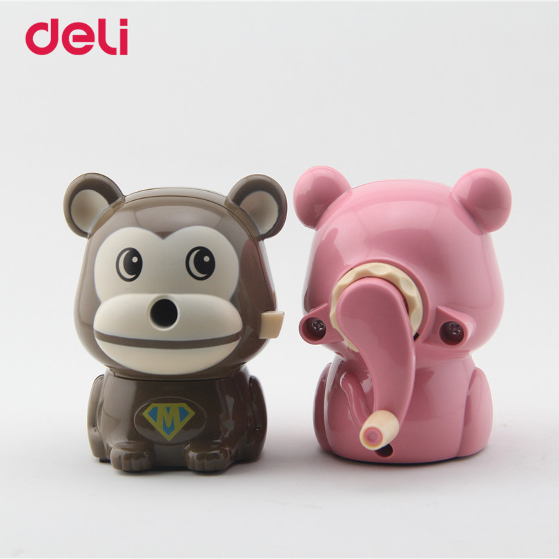 Deli 2017 Stationery Mechanical pencil sharpener Kawaii pencil sharpener Cartoon Monkey Pencil sharpener office & school supply deli stationery pencil sharpener mechanical cartoon kawaii pencil sharpener cute pencil sharpener office & school supplies