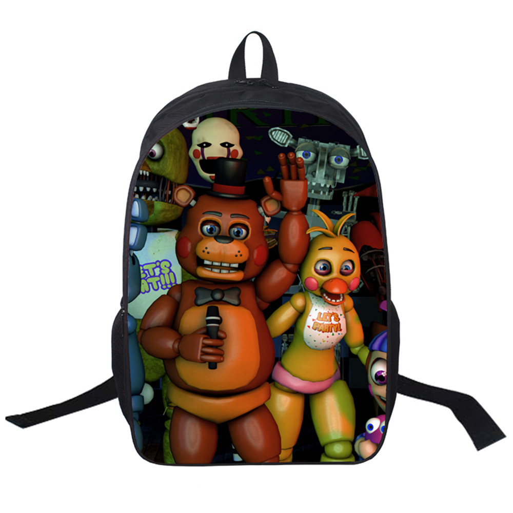2017 New Women Bags Game Five Nights at Freddy's Backpack Students School Bag For Girls Boys Rucksack mochila Private customize