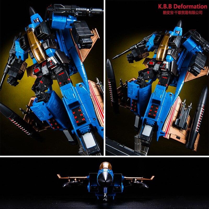 Oyuncaklar ve Hobi Ürünleri'ten Aksiyon ve Oyuncak Figürleri'de Serin Oyuncaklar Anime Serisi Dönüşüm aksiyon figürü oyuncakları Robot ABS juguetes Model KBB 33019 3/MP 11ND/mp11nd KO uçak 25 cm'da  Grup 3