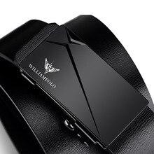 Moda de luxo de alta qualidade automático clássico liga fivela cinto presente livre embalagem