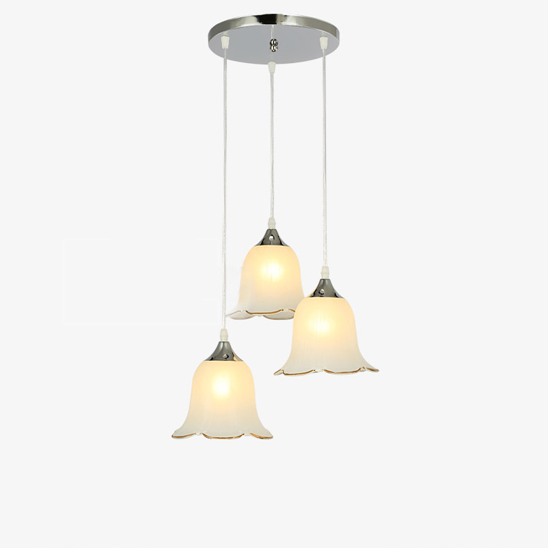 Retro Industrial Hanging Lamp E27 Modern Simple Flower Glass Lampshade Pendant Light Lighting Fixtures For Cafe Restaurant PL676