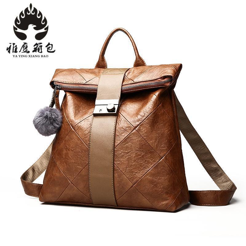 Women Multifunction Backpack Pu Leather Shoulder Bag Large Capacity Backbag Female Zipper School Bag Girl Travel Bag Mochila