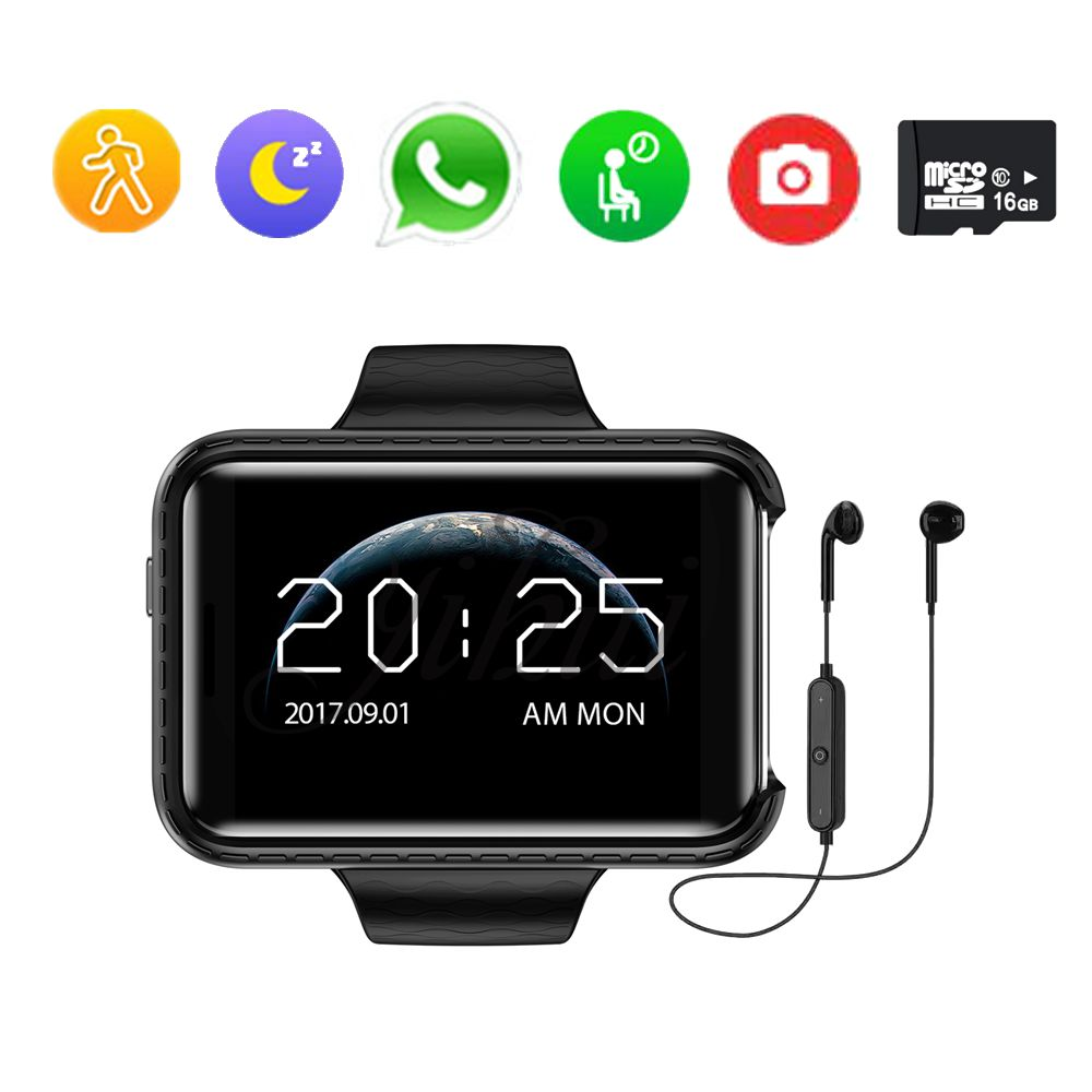 2018 smart watch DM98 i5s rectangle 2.2 inch support music SIM TF Card Driving recorder MTK2502 perfect For IOS/android phone
