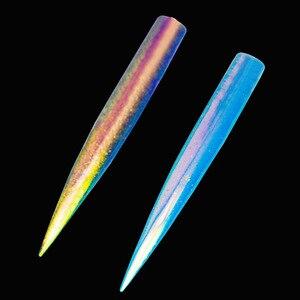 Image 5 - 0.1g Nail Art Mirror Powder Holographic Aurora Neon ฝุ่นเล็บ Chrome Pigment สำหรับความงามทำเล็บมือตกแต่งเล็บ TR107
