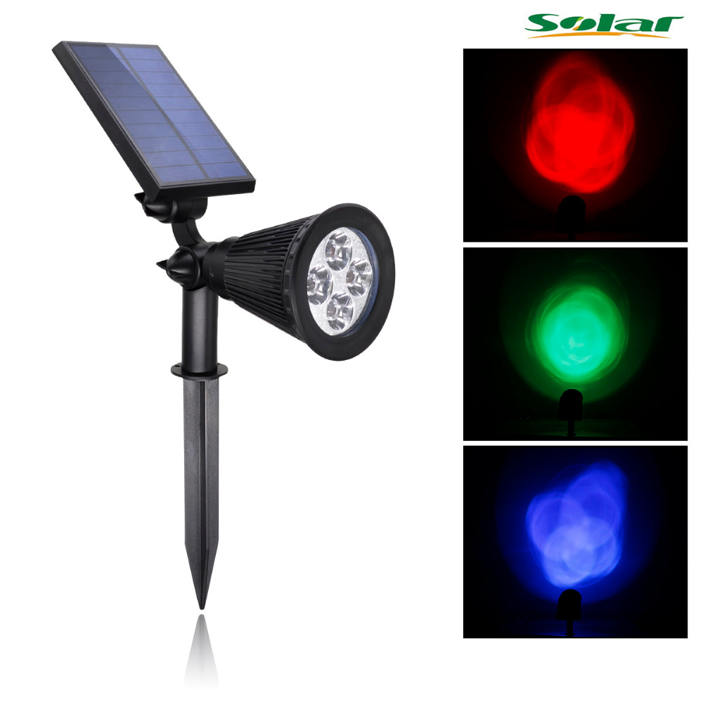 Led Lamps Provided Waterproof Outdoor Solar Energy Lawn Lamps Rgb 4led Garden Path Spot Light Lights & Lighting