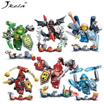 [Jkela] Ninjago Nexo Ridders Toekomst Shield Bouwstenen Kasteel Warrior Nexus Speelgoed Gift Compatibe Met Legoingly Nexo Knight скуби ду лего