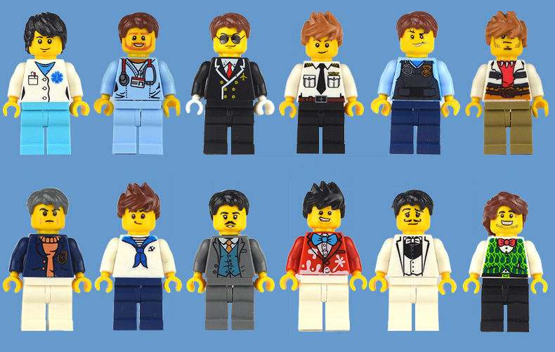 100pcs//lot NEW LEGO TYPE PEOPLE Building toys MiniFigures