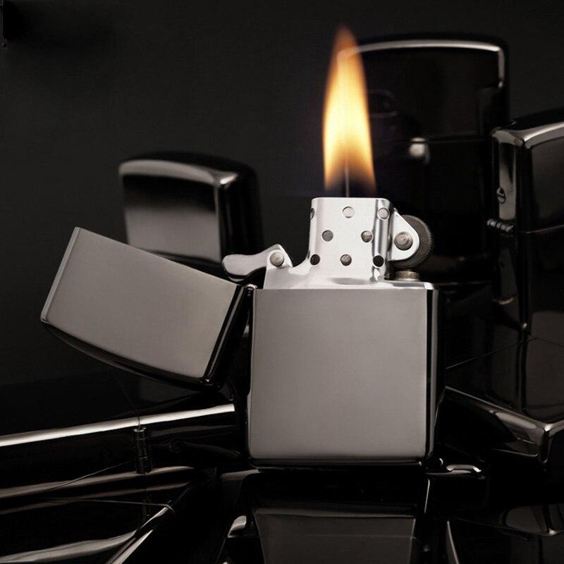 Мода 2017 г. своих Металл Цвет лак Металл Нефть прикуриватель некурящих топлива случае зажигалки Керосин Для мужчин Для женщин гаджеты бар по...