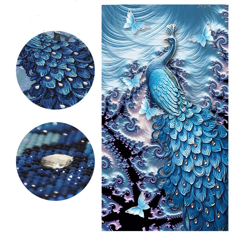 5D DIY Special Shaped Animal Diamond Painting Peacock Butterfly Diamond Embroidery Cross Stitch Mosaic Crafts Bead