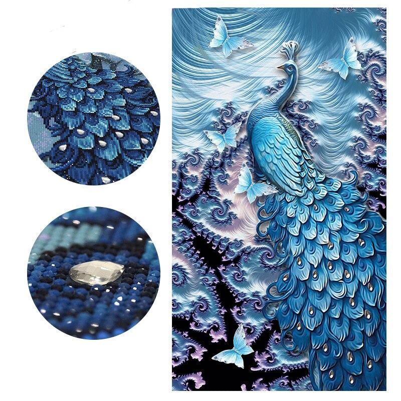 5D DIY Speciale Vormige Dier Diamant Schilderen, Pauw Vlinder, Diamant Borduurwerk, Kruissteek, Mozaïek, ambachten, Kraal, decoratie-in Diamond Schilderen Kruissteek van Huis & Tuin op  Groep 1