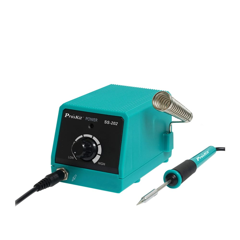 SS-202G Pro'skit Professional Mini Soldering Station Constant Temperature Electric Maintenance Tools Welding Iron Portable