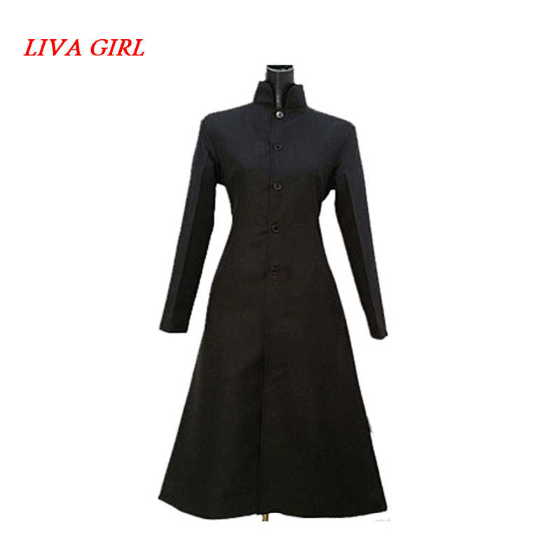 LIVA fille matrice noir Cosplay deguisement néo Trench manteau