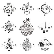 Merry Christmas Set Sticker Painting Stencils for Diy Scrapbooking Stamps Home Decor Paper Cake Card Template Decoration Album merry christmas tree sticker painting stencils for diy scrapbooking stamps home decor paper card template decoration album craft