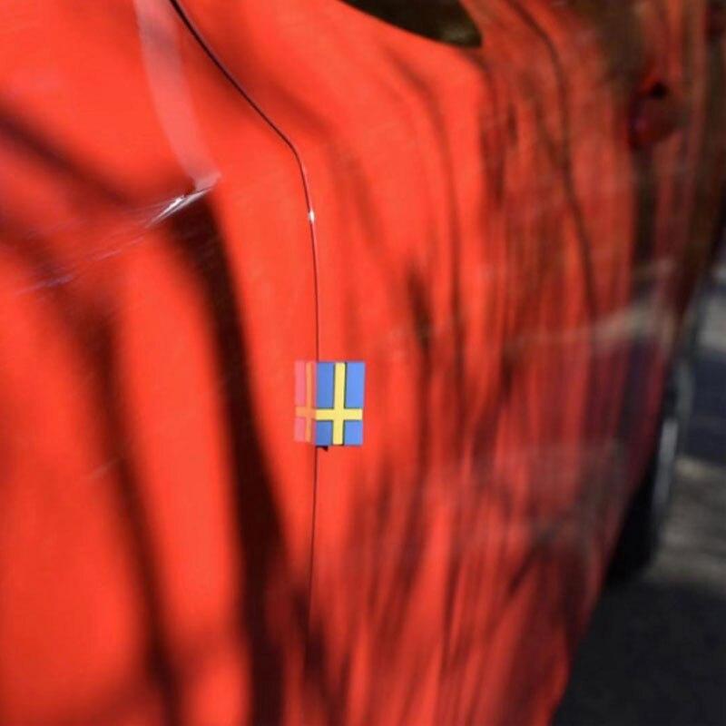 2-100 Pcs Car Styling Sweden Flag Decoration 3D Sticker Emblem Car Body Window Door For VOLVO XC40 XC90 V90 S90 XC60 C70 V70 V50