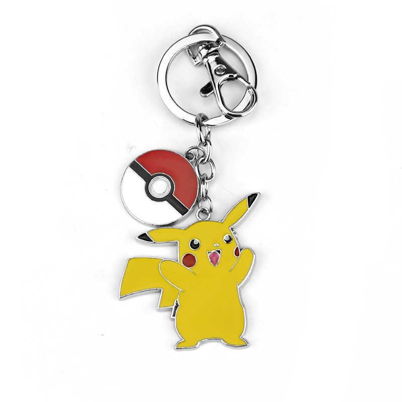 Hoạt Hình Anime Pokemon Pokeball Bỏ Túi Quái Vật Hợp Kim Móc Chìa Khóa Unisex Móc Khóa Dễ Thương Pikachu Kawaii Hình Mặt Dây Chuyền Người Hâm Mộ Móc Chìa Khóa