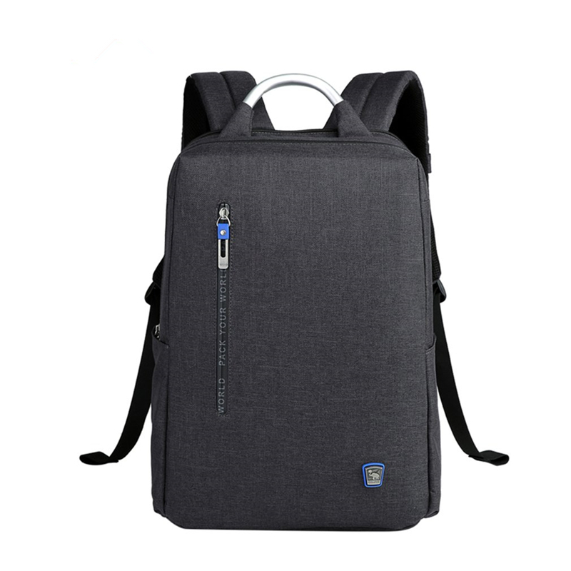 Oiwas Business Backpack Aluminum Alloy Handle Leisure School Bag Laptop Backpack Double Digital Interlayer Portable For Travel цена и фото