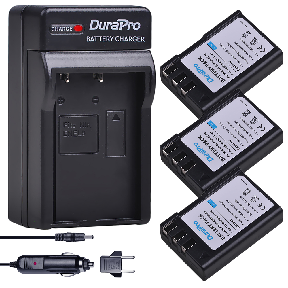 Jhtc Batterie En El9 Für Nikon En-el9a D40 D60 D40x D5000 D30 Batterie 1300 Mah En-el9 Akkus En-el9a Batterien Digital Batterien