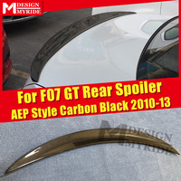 For BMW F07 GT Spoiler P Style Black Real Carbon Fiber Spoiler Wings 5 series 535i 535iGT 535iGTXD 550GT Trunk Spoiler 2010 2013
