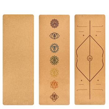 183X68cm Natural Cork TPE Yoga Mat Fitness Gym Sports Mats Pilates Exercise Pads Non-slip Yoga mats 5mm Absorb Sweat Odorless Exercise & Fitness Equipment Sports & Lifestyle Yoga Mats