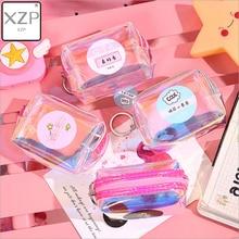 XZP Transparent laser PVC Small Purse Ladies Wallet Cute Card Holder Key Money Mini Bag Girls Kids
