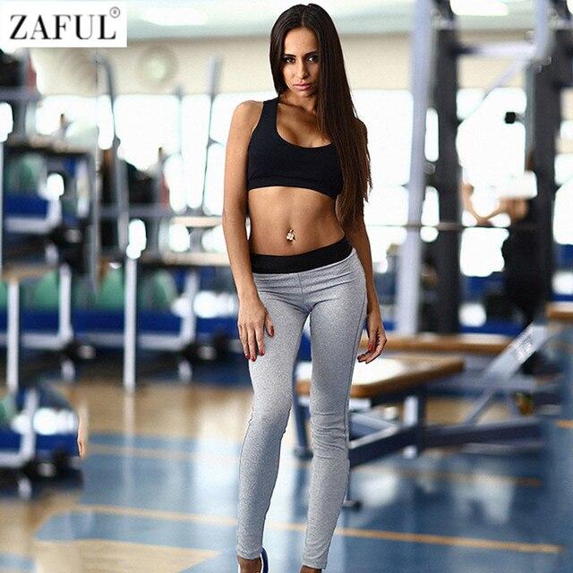 Zaful mujer Sport Sets de yoga para Correr gimnasio Sportswear deportes Top  gimnasio Sujetadores elástica capris cdce451829cf