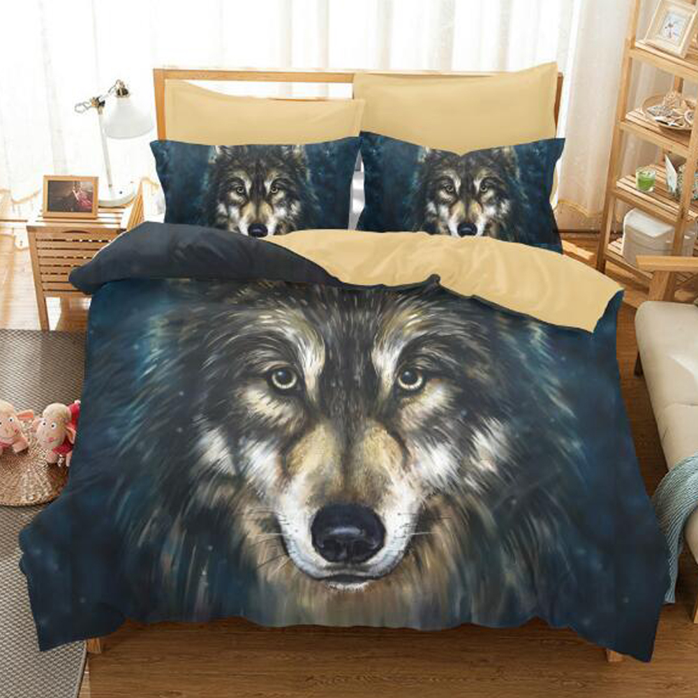 3D Printed Animal Cool Wolf Bedding Sets 2/3 Pieces,Boys Home Textiles Duvet Cover , Variety of Sizes,Gift Best Choice3D Printed Animal Cool Wolf Bedding Sets 2/3 Pieces,Boys Home Textiles Duvet Cover , Variety of Sizes,Gift Best Choice