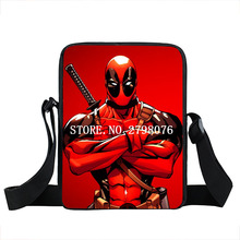 Anime Spiderman Messenger Bags Men Deadpool Shoulder Bag Deadpool/Spiderman Handbag Anime Crossbody Bags Kid Gift School bagpack