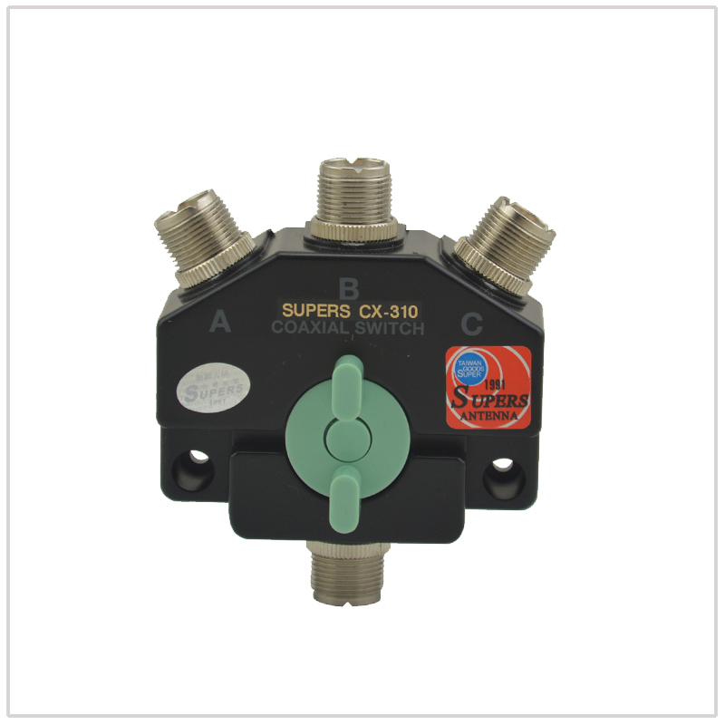 SUPERS CX-301 Coaxial Switches DC-800MHz 1 Pole 3 O/P Position For Ham Two-way Radios
