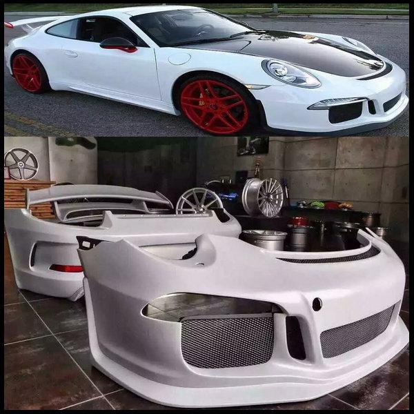GT3 FRP Style Auto Body Kits Car Bodykits For Porsche