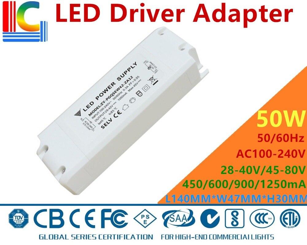 36W 42W 50W Led Downlights LED Panel lamps Driver adapter 450mA 530mA 600mA 900mA 1050mA Power Supply SAA Lighting Transformer