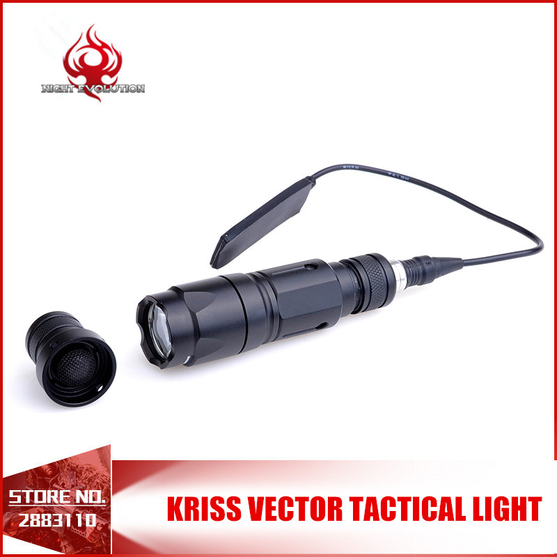 Night-Evolution Aluminum Kriss Vector Tactical Actical Light Tactical Flashlight Pistol 150m Range NE04021
