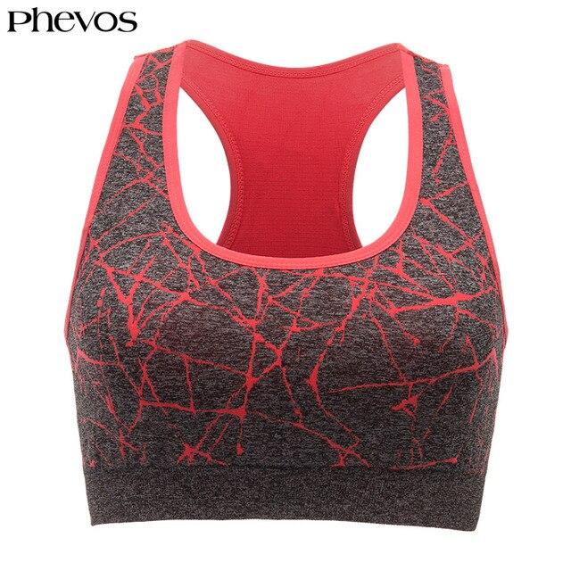 007822dd8 Phevos Sport Bra Top Woman Push Up Sports Bra Plus Size Racerback Fitness  Running Yoga Bra