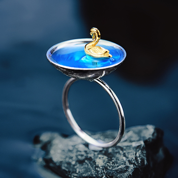 Creative Handmade Swan Ring6