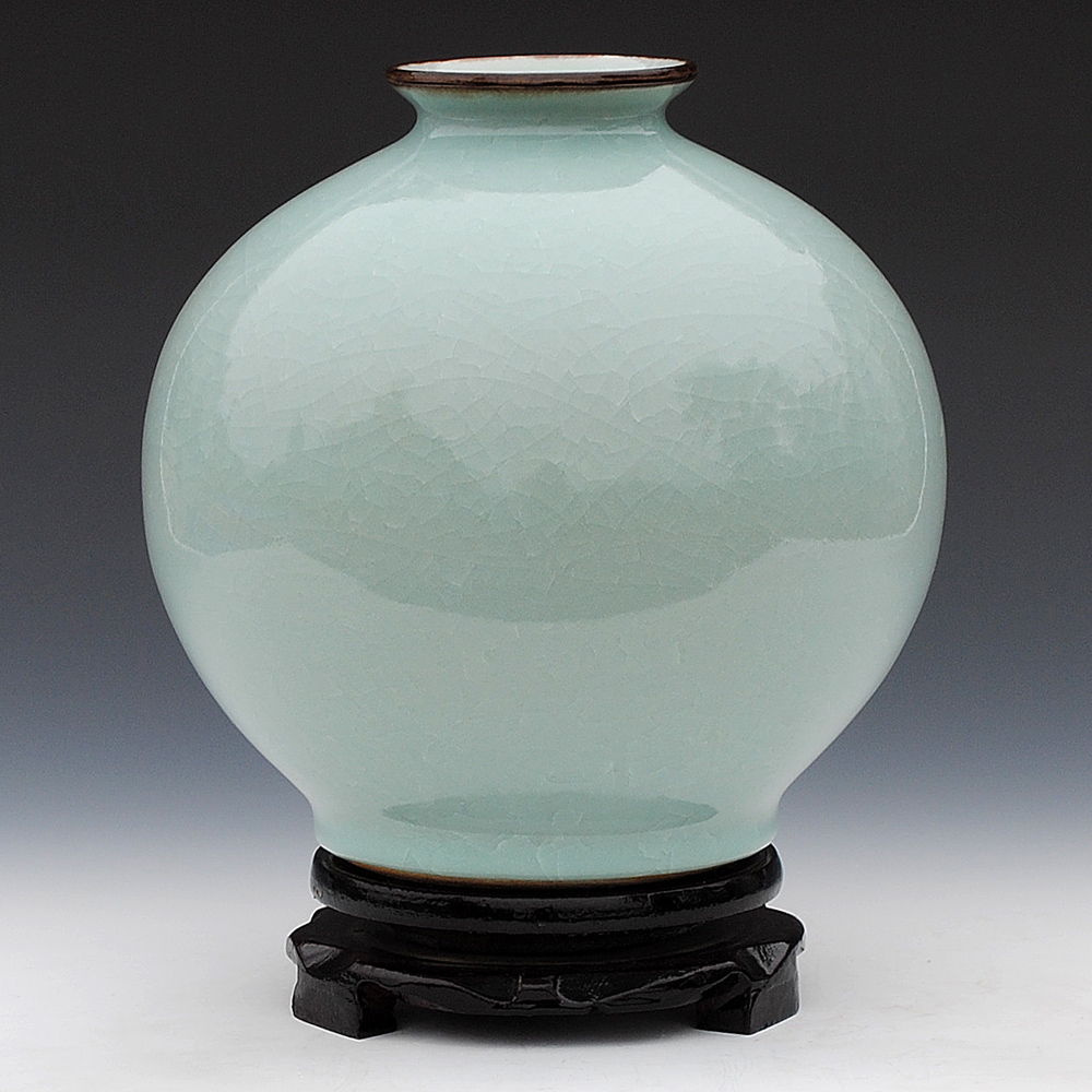 Jingdezhen ceramics kiln antique vase white glaze crack pomegranate modern decoration Home Furnishing bottle