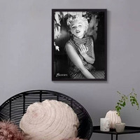 Canvas Oil Painting Marilyn Monroe Portrait Canvas Art Home Decor Wall Art Wall Pictures American Actress
