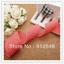 free shipping 1 25mm width MOQ is 10 yard styles polyester scottish tartan gingham ribbon bow