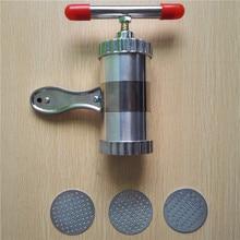 Edelstahl Praktisch Handliche Hand Kitchen Pasta Nudelhersteller Spaghetti Presse pates Maschine Mit 3 Modelle